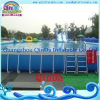 China Outdoor metal frame pool above ground metal swimming pool on sale