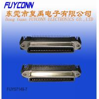 Quality 50 Pin Centronic Female PCB Right Angle RJ21 Connector Low Profile Type with Spring Latch for sale