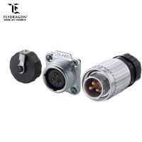 China 3-pin Male Plug Waterproof amp Automotive Electrical Power Cable Connectors with Dust-proof Cover on sale