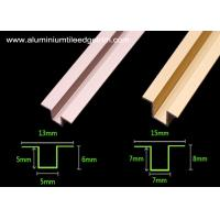Quality Anodized Colored Aluminium Tile Edge Trim / Tile Divider Trim For The Wall for sale