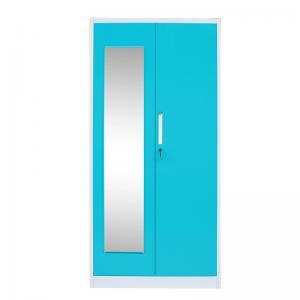 Quality 2 Door Metal Wardrobe Cabinet Steel Bedroom Furniture Storage & Closet for sale