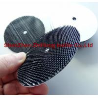 Polishing abrasive backing pad with heavy duty hook and loop fastener