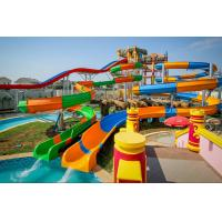 Quality Professional Spiral Water Slide / Big Pool Slides Water Playground Equipment for sale