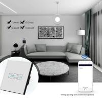 Buy Wireless Smart Light Switches EU Standard Touch Switch 220V Tempered Glass Panel at wholesale prices