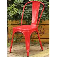Buy cheap Custom Color Colored Metal Dining Chairs , Classic Metal Tolix Chairs With Backrest product