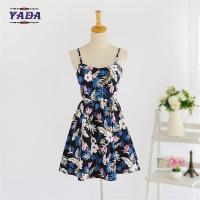 China Summer new lady backless beach patterns casual loose t-shirt prom dress ladies fashion clothing for sale on sale