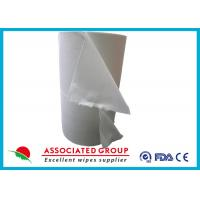 Quality Spunlace Nonwoven Disposable Dry Washcloths 100 % Cotton No Pilling / Fuzzing for sale