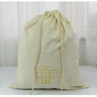 Quality Custom Extra Large Natural Cotton Laundry Bag With Rope for sale
