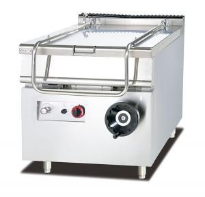 Quality 80L Capacity Gas Tilting Braising Pan Restaurant Kitchen Equipment 800*900*940mm for sale