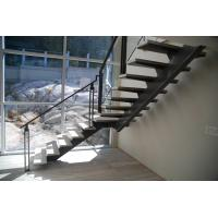 Buy cheap free design low cost exterior single beam straight stair with railing from wholesalers