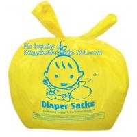 Quality Nappy Sacks Baby Diaper Bags Scented Baby Nappy Sacks  With Tie Hand for sale