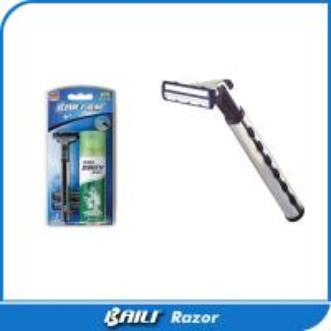 Quality Metal Chrome Handle Shaving Razor Double Blade Razor Customized Aloe Vera for sale