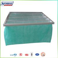Quality F6 65% 1 Mircon Filteration System Bag Air Filters with Aluminum Frame 5 Pockets for sale