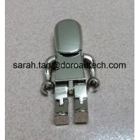 Cute Metal Robot USB Pen Drives, Gift USB Drives with Laser Printing Logo in Gold/Silver