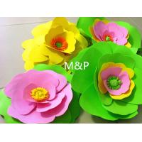 1mm EVA Foam Sheets 14cm X14cm Spong Paper Origami Rose Flower For Kindergarten
