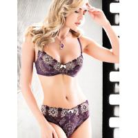 Buy cheap Embroidered Polyester / Nylon Sexy Matching Bra And Underwear Sets For Women, Office Lady product