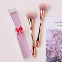 Quality Rose Gold Plated Handle Cosmetic Makeup Brush Set Beautiful Novel Boat Shape for sale