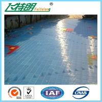 Quality Portable Outdoor Rubber Interlocking Gym Flooring Tiles 2500N Suspended Sports Flooring Surfaces for sale