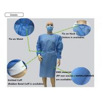 Health Non Woven Disposable Yellow Isolation Gown
