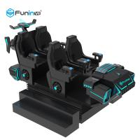 Quality Blue / Black 9D Virtual Reality Simulator Cinema Motion Car Games For Kids In Supermarket for sale