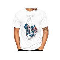 Buy White Sublimation Printed Casual T - Shirts Cotton Crew Neck Regular Fit at wholesale prices