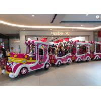 Luxury Cartoon Trackless Train Amusement Ride With Stainless Steel Material