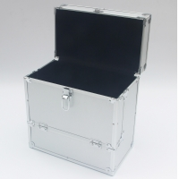 Quality Aluminum LP case silver 12'' vinyl record case for DVD storage box for sale