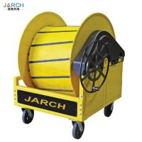 Quality Auto Retractable Hose Reel Hand Wheel Crank Pre Conditioned Air PCA With Cart for sale
