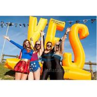 Quality Outdoor Activity Inflatable Letter Decoration / Advertising Inflatables Wind Resistant for sale