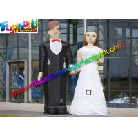 China 210D Oxford Cloth Inflatable Figures Groom And Bride Toys For Wedding on sale
