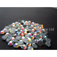 Quality ss20 crystal ab color stone hot fix rhinestone heat transfer strass for sale