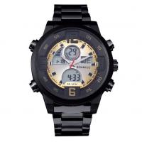 Buy cheap Wholesale Men Anlaogue Digital Dual Time Stainless Steel Bands Casual Sport from wholesalers
