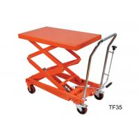 Quality Four Wheel Heavy Duty Hydraulic Lift Table Platform For Warehouse Material Carrying for sale