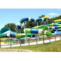 Quality High Speed Long Fiberglass Water Slides Outdoor Play Equipment Customized Color And Size for sale