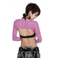 Quality Soft Flash Yarn Purple Belly Dancing Bra Tops with Breathable Waistcoat S / M / L for sale