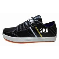 Quality low cut new style skateboard shoes with PU 2018 develop jinjiang ankos factory for sale