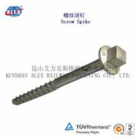 China Customized Screw Spike Manufacturers for Steel Rail Fastening on sale