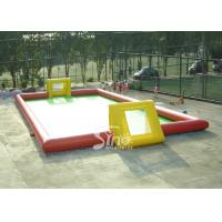 China Adult N children giant interesting water inflatable football field for outdoor games on sale