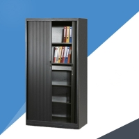 Quality Black Color ISO9001 0.15 CBM Tambour Filing Cabinet for sale