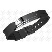 Quality 316 Stainless Steel Magnetic Bracelet Mens Jewellery In Gunmetal Look for sale