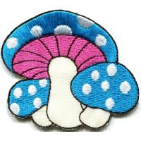 Quality Kids Embroidered Custom Iron On Patches Applique Mushroom Butterfly for sale