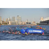 China Commercial Advertising Cylinder Inflatable Buoys For Water Triathlons on sale