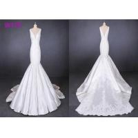 China Straps satin mermaid wedding dresses bridal gowns customize made 2019 on sale