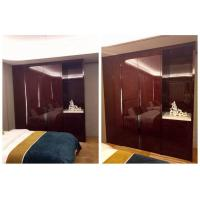 China Economic Solid Wood Hotel Room Wardrobe Large Size High Gloss Highly Endurable on sale
