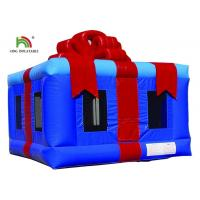 Customized Pink 4X4m Inflatable Gift Box Blow Up Jumping Castle For Party