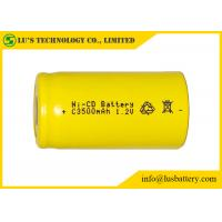 Quality Low Self Discharge C3500mah 1.2 V Nicd Rechargeable Batteries Wide Temperature Range for sale