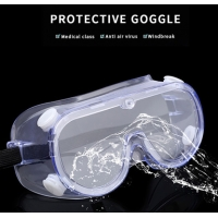 Quality Transparent Anti Fog Reusable Dustproof Eye Safety Goggles for sale