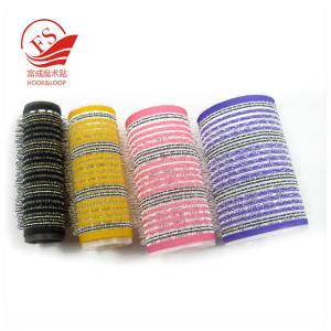 Quality Colorful Hook Loop Plastic Hair Rollers For Beauty , Sponge Hair Curler for sale
