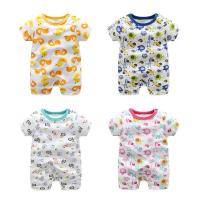 China Soft Cute Newborn Baby Clothes Short Sleeve Bodysuit Baby Boys And Girls on sale