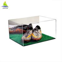 Quality Custom Made Clear Acrylic Shoe Storage Box With Cover Eco - Friendly for sale